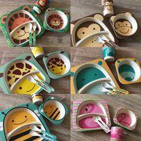Детская бамбуковая посуда. Набор 5 в 1