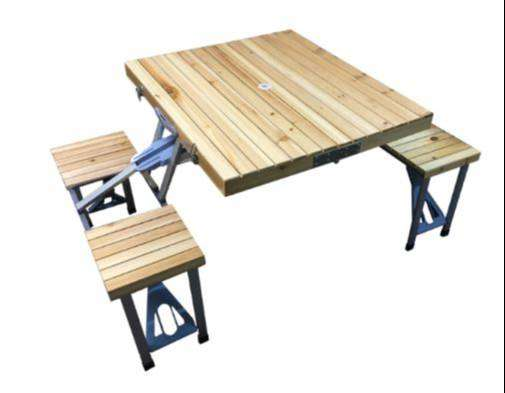 Wooden picnic folding table 4 Seater size 88.5*72.5*65.5 (H)