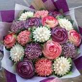 Image of Cupcake bouquet for mother's day.