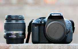 Canon 600d camera with 18-55mm lens