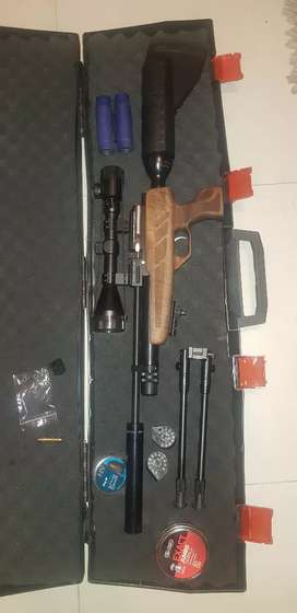 Kral Puncher NP-02 pcp rifle with lots of accessories