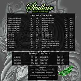 TATOOING CONSUMABLES & SUPPLIES SKULLAIR