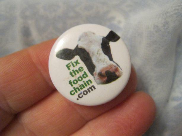 железный значок в коллекцию британия корова бык Днепр - изображение 4