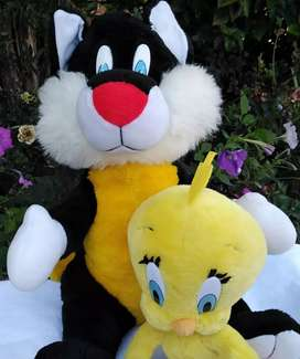 Imported Loony Tunes Sylvester and Tweety Plush Toys