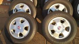 A set of 13 inch mags and Tyres for Toyota Tazz