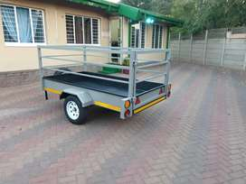 2.4x1.2  utility  trailer   with  800  high  sides