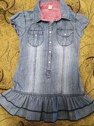 Легкое джинсовое платье на 3-4 года