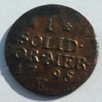 1796 E Poland SOUTH PRUSSIA Solidus C# 1 schilling solid Prusy Niemcy