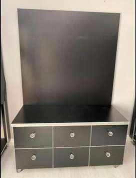 Black Chest Of Drawers On Wheels
