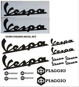 Vespa piaggio decals stickers vinyl cut graphics kits
