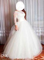 Свадебное платье рр 42-44 на невысокий рост