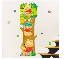 Ростомер-наклейка интерьерная для детской комнаты Винни Пух