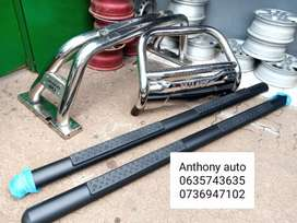 Toyota hilux side steps, roll bar and nudge bar