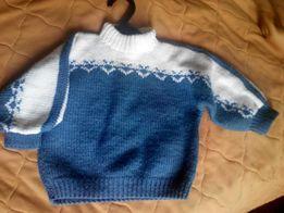 Свитер ручной вязки новогодний рождественский свитерок
