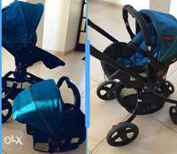 Image of Chellino twister pram with baby car seat and stroller in 1
