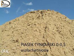 piasek tynkarski 0-0,5, uszlachetniony, do piaskownicy