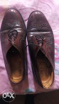 Men's Brown Brougue leather shoe 0