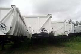 2003 tri-axle side tipper trailers for sale