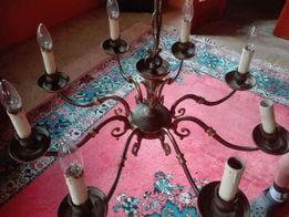 Piękny żyrandol 8 żarówek, lampa