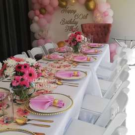 stretch tent,tables,chairs,baby shower,parties,wedding decor,catering