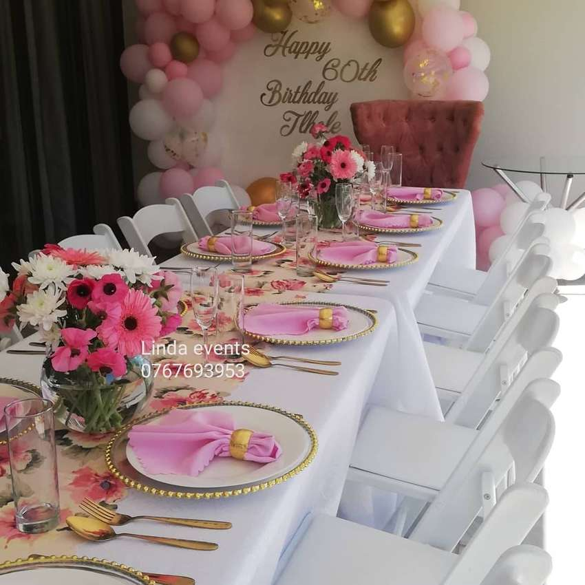stretch tent,tables,chairs,baby shower,parties,wedding decor,catering 0