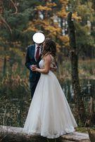 suknia ślubna rozm +/- 40 plus welon