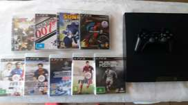 500 GB PS 3 with NINE Games and Controller