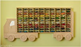 Duża Półka na resoraki półka na samochodziki ciężarówka