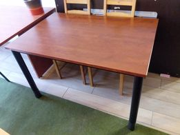 Stół MDF rama stalowa, bardzo solidny biurko 120x75 biura ikea