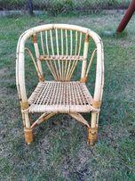 Krzesełko fotel ratanowy dla dzieci