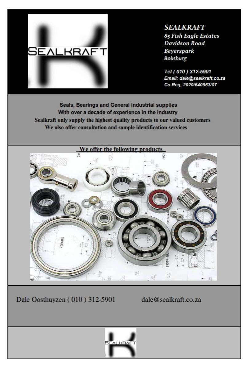 Sealkraft specialists in all seals and bearings 0