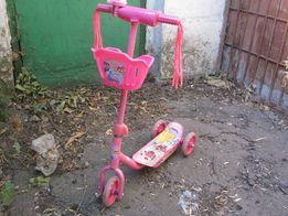 Детский розовый самокат Принцессы Disney