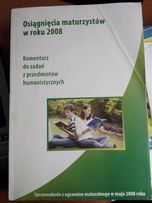 Osiągnięcia maturzystów w roku 2008. Komentarz do zadań