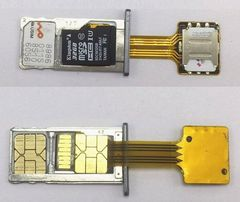 Гибридный слот, Адаптер-переходник NANO SIM+NANO SIM и карты памяти