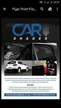 Image of Custom made car shades