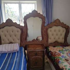 Double Headboard with beds