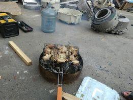 Барбекю,гриль,мангал,из нержавеющего барабана стиральной машины.