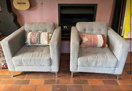@Home Grey Tweed Couches