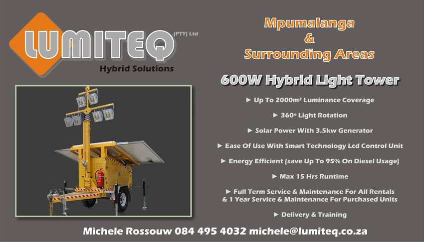 Solar Hybrid Light Towers