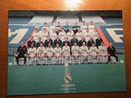Real Madryt - karta z podpisami 2002/2003 UNIKAT