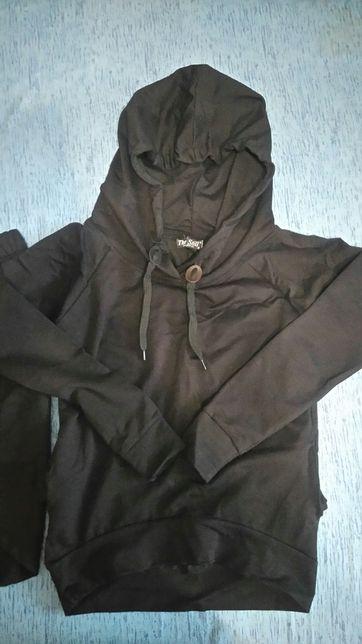 Komplet, bluza + spódniczka, czarne, rozm S, Nowe Sosnowiec - image 2