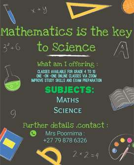 Tutoring classes from GR 4 to GR 10