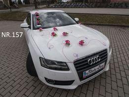 Dekoracja na samochód w kolorze malinowym/ozdoba/stroik