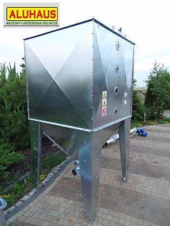 Zbiornik silos pojemnik do paszy zboża pelletu 2000 litrów ocynk Dakowy Suche - image 4