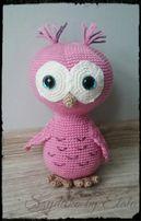 Zabawki sowa na szydełku handmade owl crochet maskotki