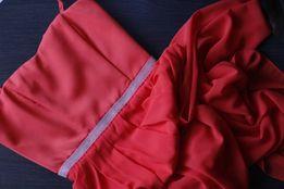 Платье в пол, красное