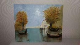 """Картина """"Венеция """" работа маслом"""