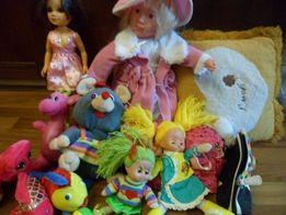 9 мягких игрушек для девочки по смешной цене.