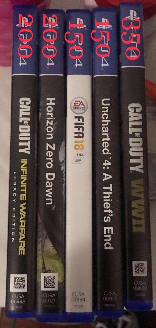 PS4 games and PSP 0