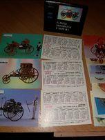набор календариков 1992 г. история автомобиля в моделях